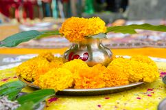 Free Indian Hindu Religion Mangal Ghat With Any Hindus Puja Festival . Royalty Free Stock Image - 177679836