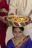 Indian Hindu symbolic ritual in wedding. Stock Photos
