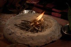 Indian Hindu traditional wedding havan (fire ) Stock Photography