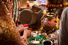 Indian Hindu traditional Wedding ritual Stock Images