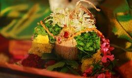 Free Indian Hindu Wedding Details Yellow Rope Closeup Stock Images - 113417794