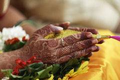 Indian hindu wedding rituals Royalty Free Stock Images