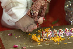 Indian hindu wedding rituals Stock Photos