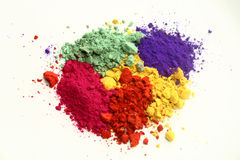 Indian holi colors. Indian Holi festival colors on a white background Royalty Free Stock Photos