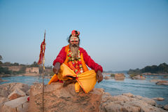 Indian holy man Stock Photography