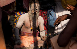 Indian holy man in the ashes Royalty Free Stock Images