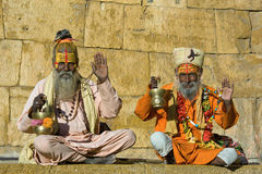 Indian holy man Stock Image