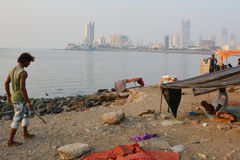 Indian homeless Royalty Free Stock Photography