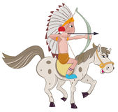 Indian on  horse Royalty Free Stock Photo