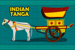 Indian Horse Chariot representing colorful India Stock Photography
