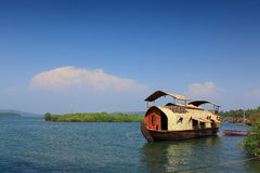Indian House Boat Stock Photography
