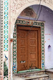Indian House Pattern. A outside view of the traditional house at the religious place-Mathura Royalty Free Stock Images