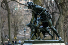 Indian Hunter sculpture Stock Image