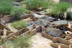 Indian huts. Indian baldly huts near Jaisalmer, Rajasthan, India Stock Images