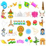 Indian Icon. Illustration of set of Indian icon showing festivals in India Stock Images