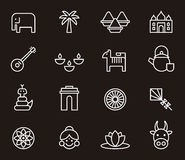 Indian icons Stock Photography