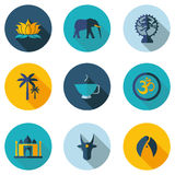 Indian icons in vector format Royalty Free Stock Image