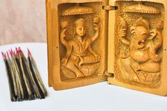 Indian incense with gods Shiva and Ganesha Royalty Free Stock Photography