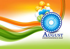 Indian independence day background with ashok chakra Royalty Free Stock Photography