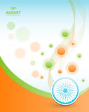 Indian Independence Day background with Ashoka wheel. Abstract colorful background. 15th August, India Independence Day Stock Photography