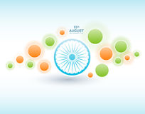 Indian Independence Day background with Ashoka wheel. Abstract colorful background. 15th August, India Independence Day Royalty Free Stock Image
