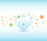 Indian Independence Day background with Ashoka wheel. Abstract colorful background. 15th August, India Independence Day Royalty Free Stock Images