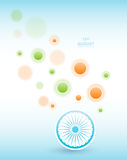 Indian Independence Day background with Ashoka wheel. Abstract colorful background. 15th August, India Independence Day Royalty Free Stock Photos