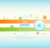 Indian Independence Day background with Ashoka wheel. Abstract colorful background. 15th August, India Independence Day. Celebrations concept national flag Royalty Free Illustration