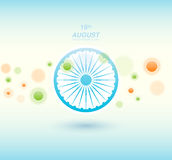 Indian Independence Day background with Ashoka wheel. Abstract colorful background. 15th August, India Independence Day Royalty Free Stock Photography