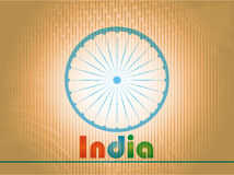 Indian Independence Day background with 3D Ashoka. Vector indian flag in grunge style design Vector Illustration