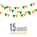 Indian Independence Day Background with Flags Royalty Free Stock Photo