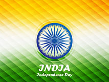 Indian Independence Day background. Happy Independence Day India. 15th of august. Indian Independence Day abstract geometric background with ashoka wheel for Royalty Free Stock Images