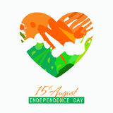 Indian Independence Day background with text 15 of August.. Brush strokes texture Stock Photos