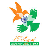 Indian Independence Day background with text 15 of August. Brush strokes texture Royalty Free Stock Images