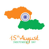 Indian Independence Day background with text 15 of August. Brush strokes texture Royalty Free Stock Photography