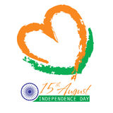Indian Independence Day background with text 15 of August. Brush strokes texture Stock Photo