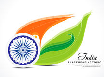 Indian independence day background with wave Stock Photography