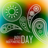 Indian independence day. Beautiful indian flag background design Stock Illustration