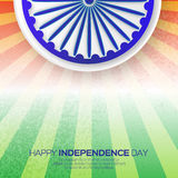 Indian Independence Day. Celebration background with Ashoka wheel. Republic Day. Origami Indian flag.Flyer design concept for 15th August. Vector Illustration Royalty Free Stock Photos