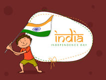 Indian Independence Day celebration with cute kids. Stock Photo