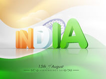 Indian Independence Day celebration with 3D text. Stock Photos