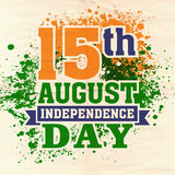 Indian Independence Day celebration with stylish text. Royalty Free Stock Image