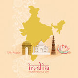 Indian Independence Day celebrations card Stock Photography