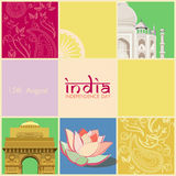 Indian Independence Day celebrations card Royalty Free Stock Images