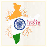 Indian Independence Day celebrations card Royalty Free Stock Image