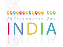 Indian Independence Day celebrations card Stock Image