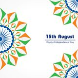 Indian Independence Day concept background with Ashoka wheel. Vector Illustration of Indian Independence Day concept background with Ashoka wheel vector illustration