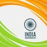 Indian Independence Day concept background with Ashoka wheel. Vector. Illustration Royalty Free Stock Photo