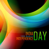 Indian independence day. Indian flag background design with space for your text Royalty Free Stock Images