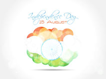 Indian Independence Day greeting card design with  Stock Images